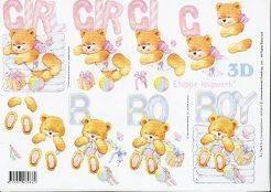 3D Etappen-Bogen Baby/Geburt/Girl-Boy-416924-G