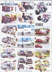 3D Etappen-Bogen /Feuerwehr/Fahrschule/Polizei