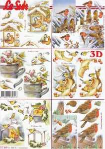 3D-Etappen-Bogen-Vögel im Winter-kleine Motive- 777369