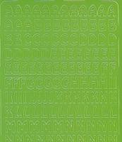 Zier-Sticker-Bogen-Alphabet-ABC-hellgrün-010hgr