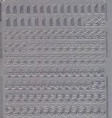 Zier-Sticker-Bogen-Zahlen-silber-023s