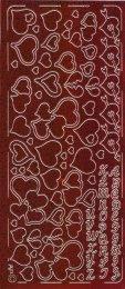 Zier-Sticker-Bogen-verschiedene Herzchen-holo-rot-0033hor