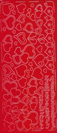 Zier-Sticker-Bogen-verschiedene Herzchen-rot-0033r