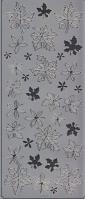 Spiegelsticker-Bogen-0037sps-verschiedene Blätter -silber