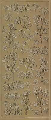 Spiegelsticker-Bogen-038spg-Sonnenblumen -gold