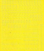 Zier-Sticker-Bogen-Alphabet-abc- gelb-075ge