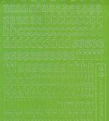 Zier-Sticker-Bogen-Alphabet-abc- hellgrün-075hgr