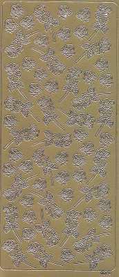 Zier-Sticker-Bogen-kleine Rosen-gold-0089g