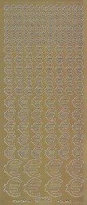 Zier-Sticker-Bogen-Euro Zeichen-verschiedene Größen-gold-0106g