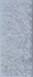 Zier-Sticker-Bogen-Ornamente-silber-110s