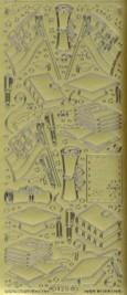 Zier-Sticker-Bogen-Motive für Schule-Prüfung-Abi-gold-125g
