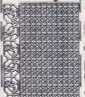 Micro-Glittersticker-0135gtrs-kleine Ecken und Ränder-transparent/silber
