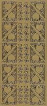 Spiegelsticker-Bogen-0137spg-Ecken mit Herz-gold