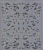Spiegelsticker-Bogen-0138sps-verschiedene Ecken -silber