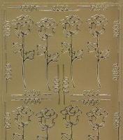 Spiegelsticker-Bogen-159spg-Rosen/Borden- gold