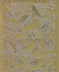 Zier-Sticker-Bogen-Blätter-gold-0195g