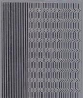 Spiegelsticker-Bogen-206sps-verschiedene Ränder -silber