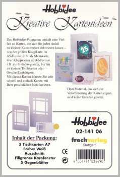 5 Passepartout -Tischkarten-A7-weiß-Hobbidee 06-filigranes Karofenster