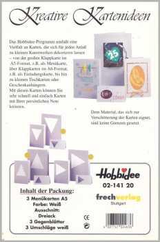3 Passepartout -Doppel-Menükarten-A5-weiß-Hobbidee 20-Dreieck