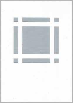 3 Passepartout -Doppel-Menükarten-A5-weiß-Hobbidee 26-filigranes Karofenster