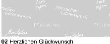Ursus-White Line-Transparentpapier-A4-115g/qm-02 Herzlichen Glückwunsch