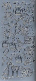 Zier-Sticker-Bogen-Party-silber-1310s