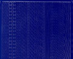 Zier-Sticker-Bogen-versch.dünne Ränder-blau-306bl
