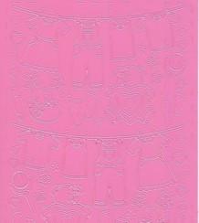 Zier-Sticker-Bogen-Baby-Motive-z.B.Wäsche-rosa324ro