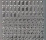 Zier-Sticker-Bogen-Zahlen-silber-032s