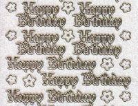 Micro-Glittersticker-0344Gtrg-Happy Birthday-transparent/gold