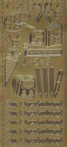 Zier-Sticker-Bogen-0368g-Zur Einschulung-gold