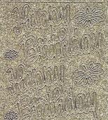 Micro-Glittersticker-Happy Birthday-gold/silber-0382ggs