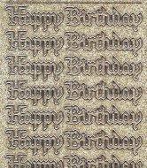 Micro-Glittersticker-0394ggs-Happy Birthday-Gothic-gold/silber