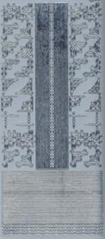 Zier-Sticker-Bogen-dünne Ränder-Bordüren und Ecken-silber-397s