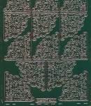 Zier-Sticker-Bogen-8400grg-Ecken-grün/gold