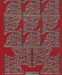 Zier-Sticker-Bogen-8400rg- Ecken-rot/gold