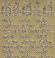Zier-Sticker-Bogen-Frohe Ostern-gold-418g
