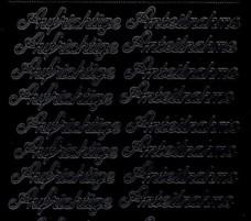 Zier-Sticker-Bogen-0419schw-Aufrichtige Anteilnahme-schwarz