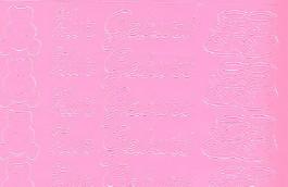 Zier-Sticker-Bogen-0435ro.-Zur Geburt-rosa