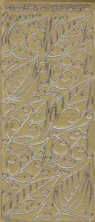 Zier-Sticker-Bogen-Blätter-gold-3437g
