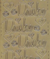 Zier-Sticker-Bogen-Danke-groß geschrieben-gold-462g