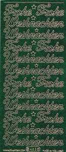 Micro-Glittersticker-0463ggrg-Frohe Weihnachten-grün-gold