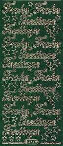 Micro-Glittersticker-Frohe Festtage-grün-gold-0464ggrg