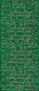 Micro-Glittersticker-Frohe Weihnachten-grün-gold-0466ggrg