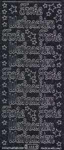 Micro-Glittersticker-0466gschws-Frohe Weihnachten-schwarz-silber
