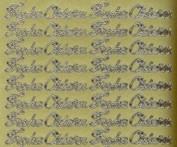 Zier-Sticker-Bogen-0480g-Frohe Ostern-gold