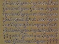 Zier-Sticker-Bogen-Gott segne Dich-begleitet Dich-gold-482g