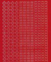 Zier-Sticker-Bogen-verschiedene Ränder-rot-486r