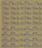 Zier-Sticker-Bogen-Für Dich - gold - 487g