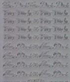 Zier-Sticker-Bogen-Für Dich -silber - 487s